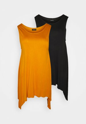 2 PACK - Top - black/gold