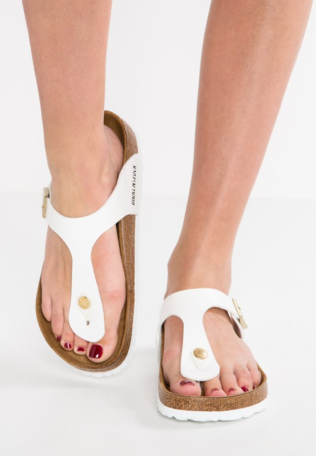 GIZEH - T-bar sandals - white
