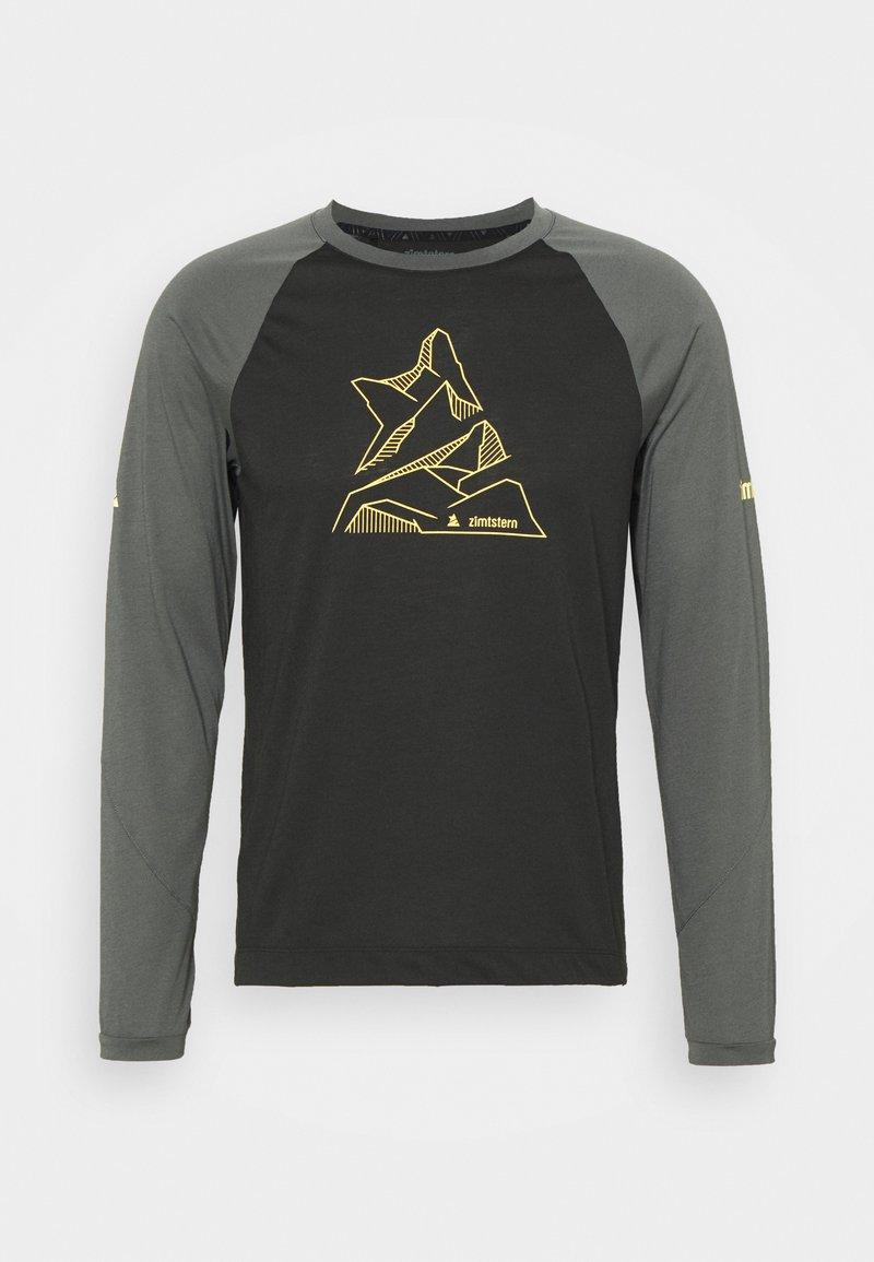 Zimtstern - PUREFLOWZ MENS - Sports shirt - pirate black/gun metal