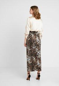 Dorothy Perkins - ANIMAL PRINT SKIRT - Maxi skirt - brown - 2