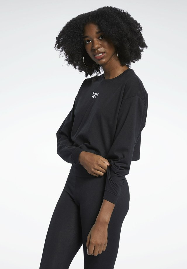 CLASSIC COTTON FOUNDATION CASUAL LONG SLEEVE - T-shirt à manches longues - black