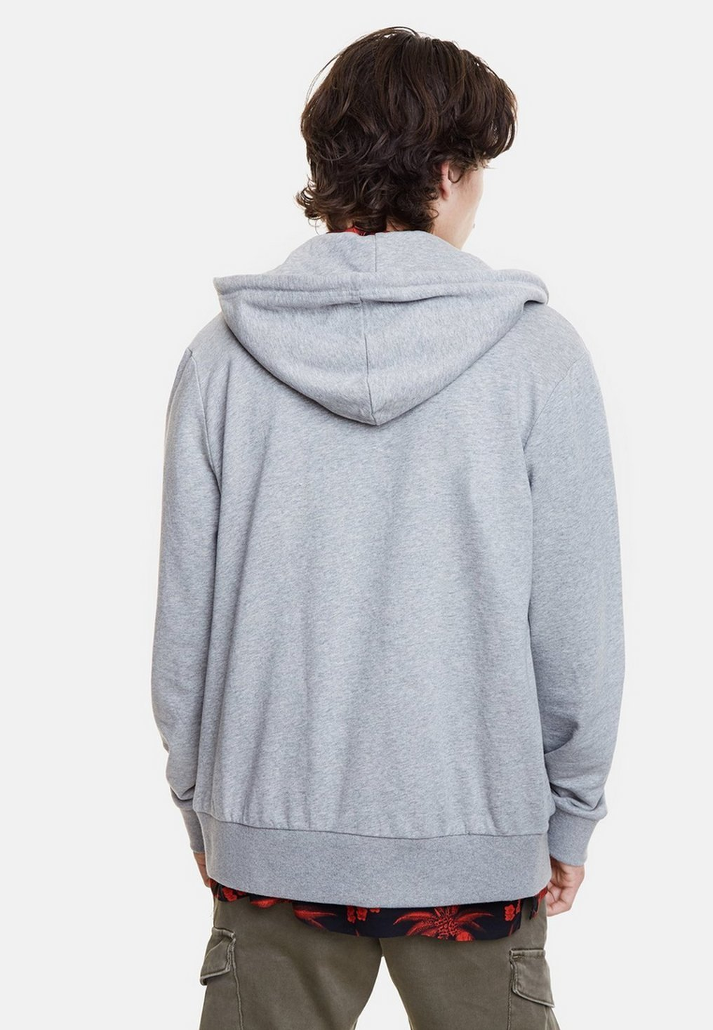 Desigual veste en sweat zippée - gray