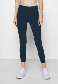 Sweaty Betty - POWER WORKOUT 7/8 LEGGINGS - Leggings - beetle blue - 0