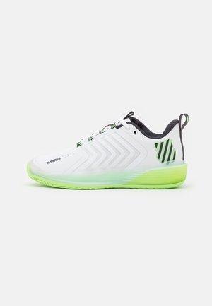 ULTRASHOT 3 - Chaussures de tennis toutes surfaces - white/soft neon green/blue graphite