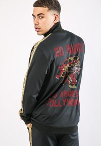 Ed Hardy - CHEETAH-CRYSTAL TRICOT HOTFIX TRACKTOP - Training jacket - black - 1