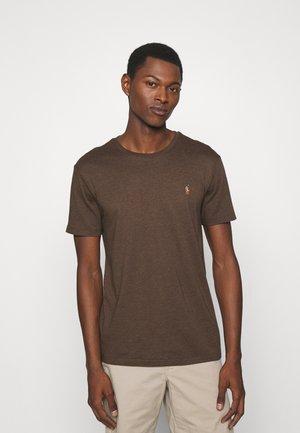 CUSTOM SLIM SOFT TEE - T-shirt basic - brown heather