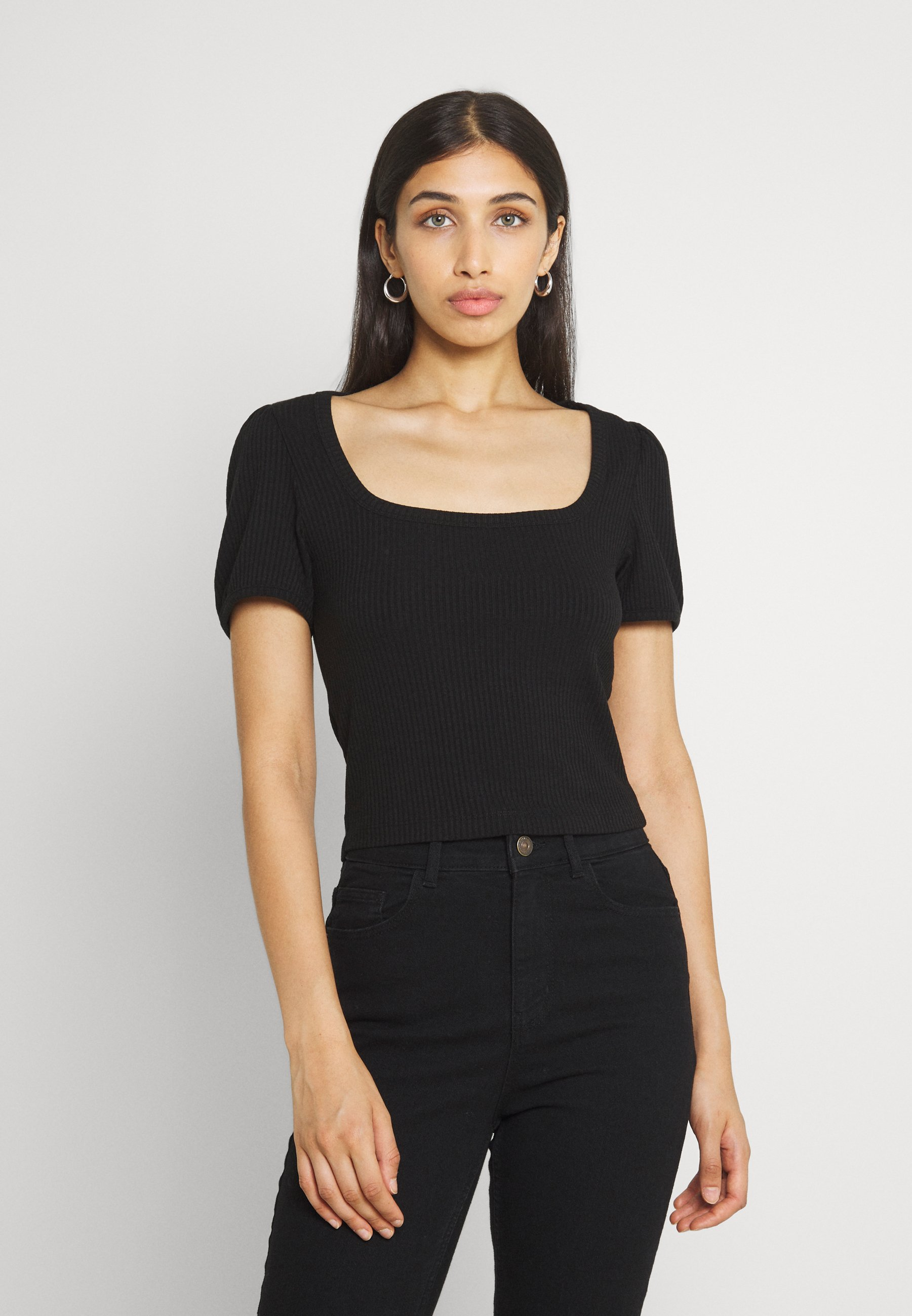 Damen VMMANDY SQUARE NECK VIP - T-Shirt basic