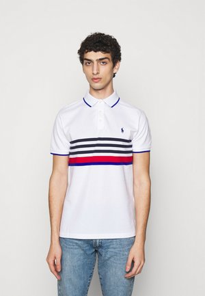 BASIC MESH - Polo shirt - white multi