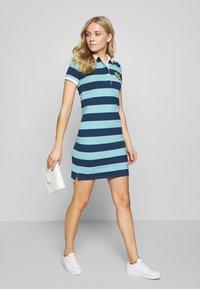 GANT - SUMMER STRIPE RUGGER DRESS - Jersey dress - aqua - 1