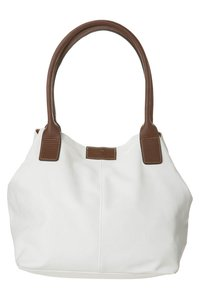TOM TAILOR - MIRIPU - Handbag - white/camel - 0