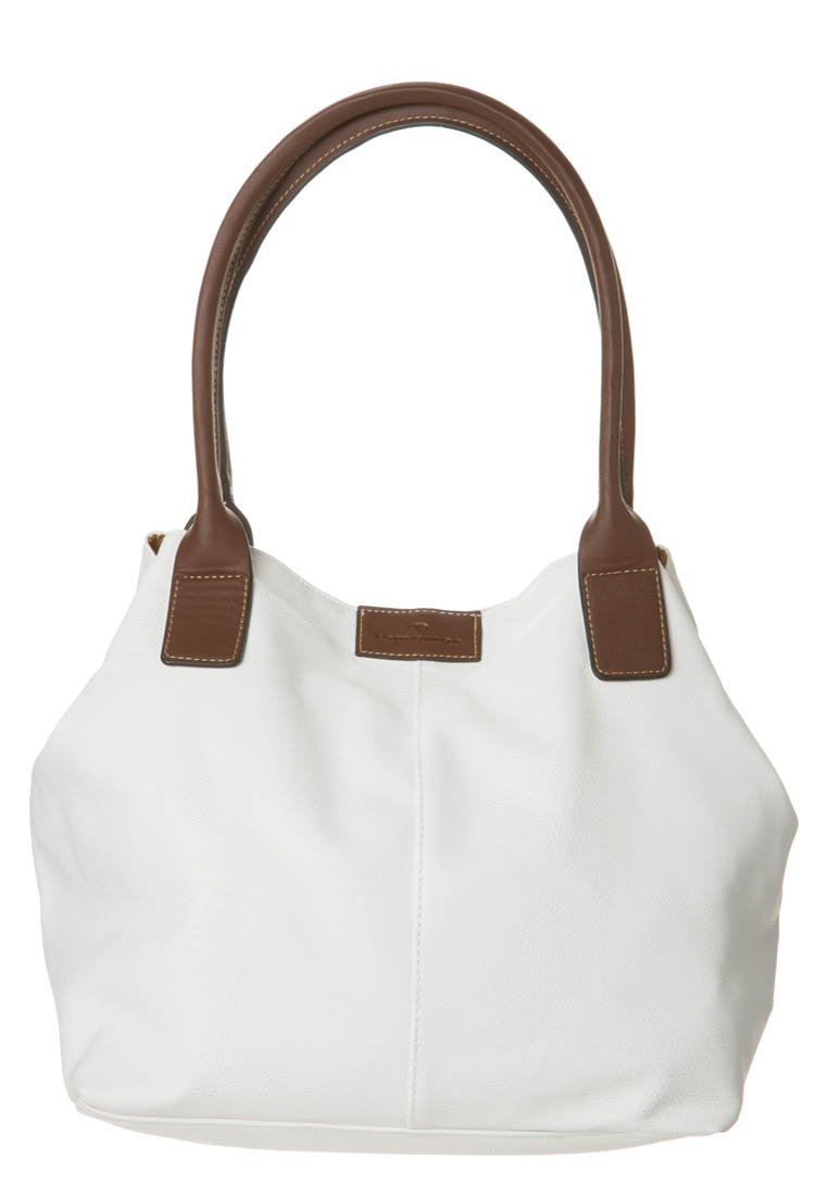 TOM TAILOR - MIRIPU - Handbag - white/camel