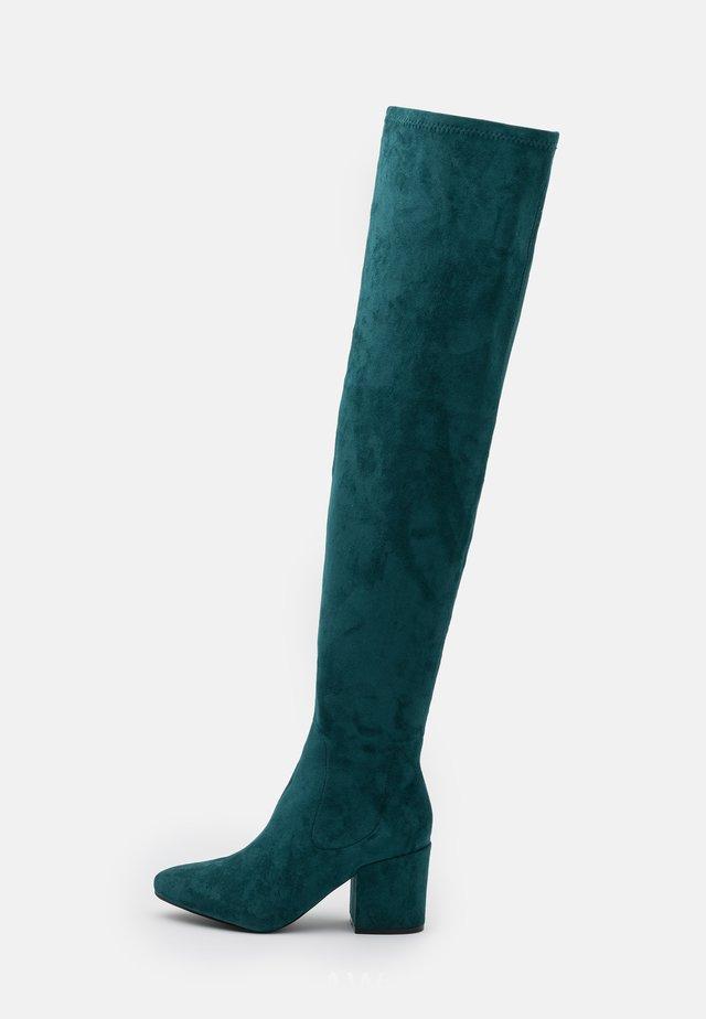 KOLA - Over-the-knee boots - petrol
