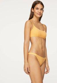 OYSHO - GINGHAM  - Bikinibroekje - yellow - 3