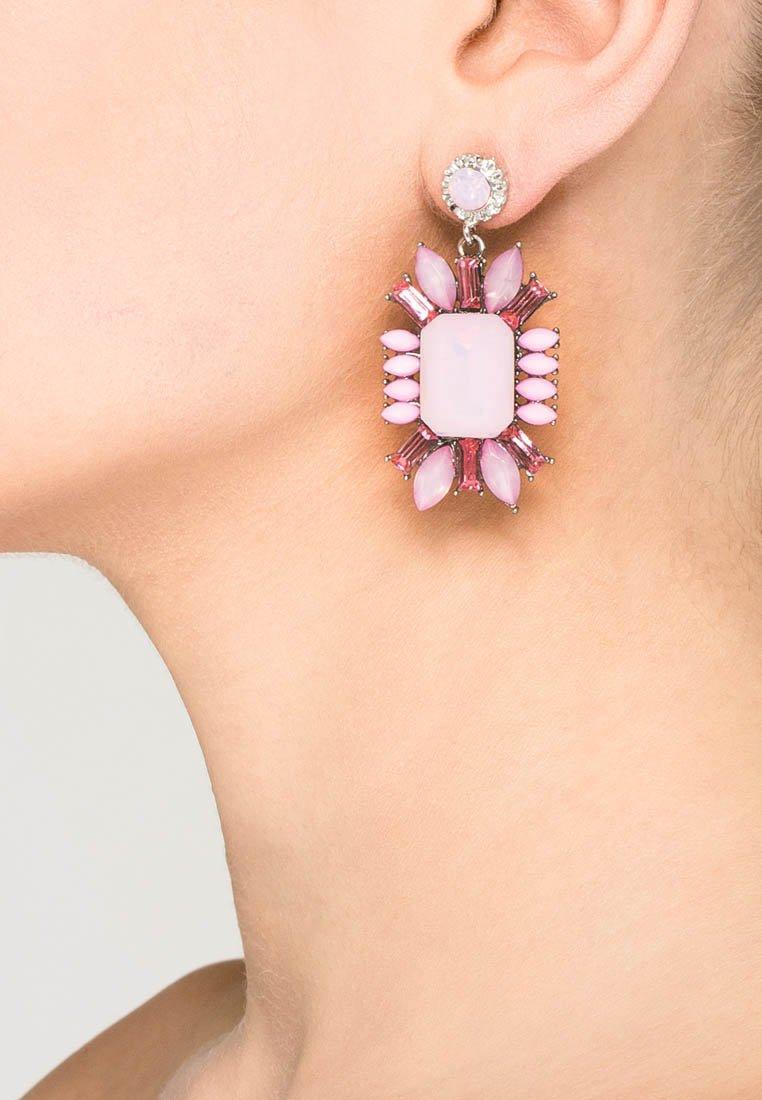 sweet deluxe - Earrings - weiß/pink
