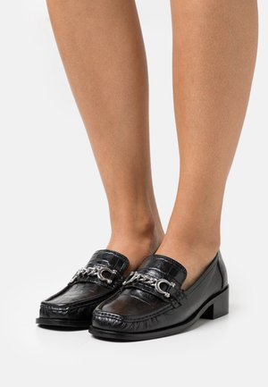 LINCON CHAIN LOAFER - Slip-ons - black