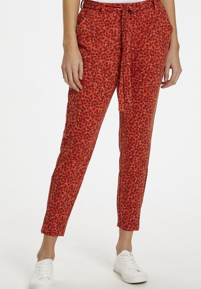 Trousers - summer fig flower