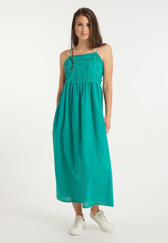 Długa sukienka - türkis