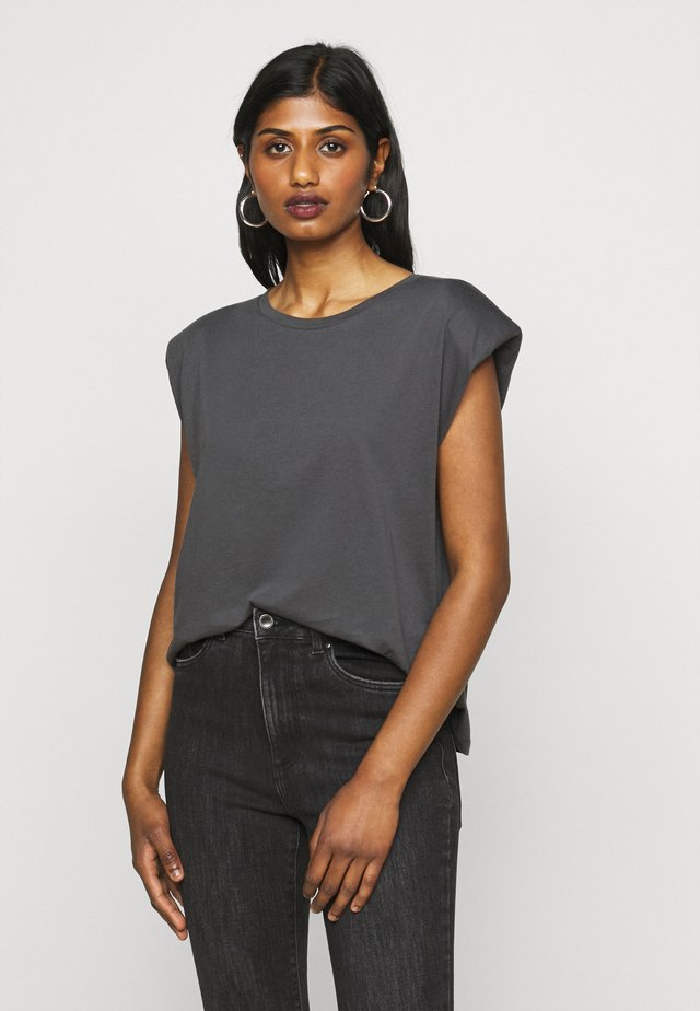 ONLPERNILLE SHOULDER  - Camiseta básica - dark grey