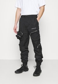 Mennace - SHADOW TRACKSUIT TROUSER - Tracksuit bottoms - black - 0