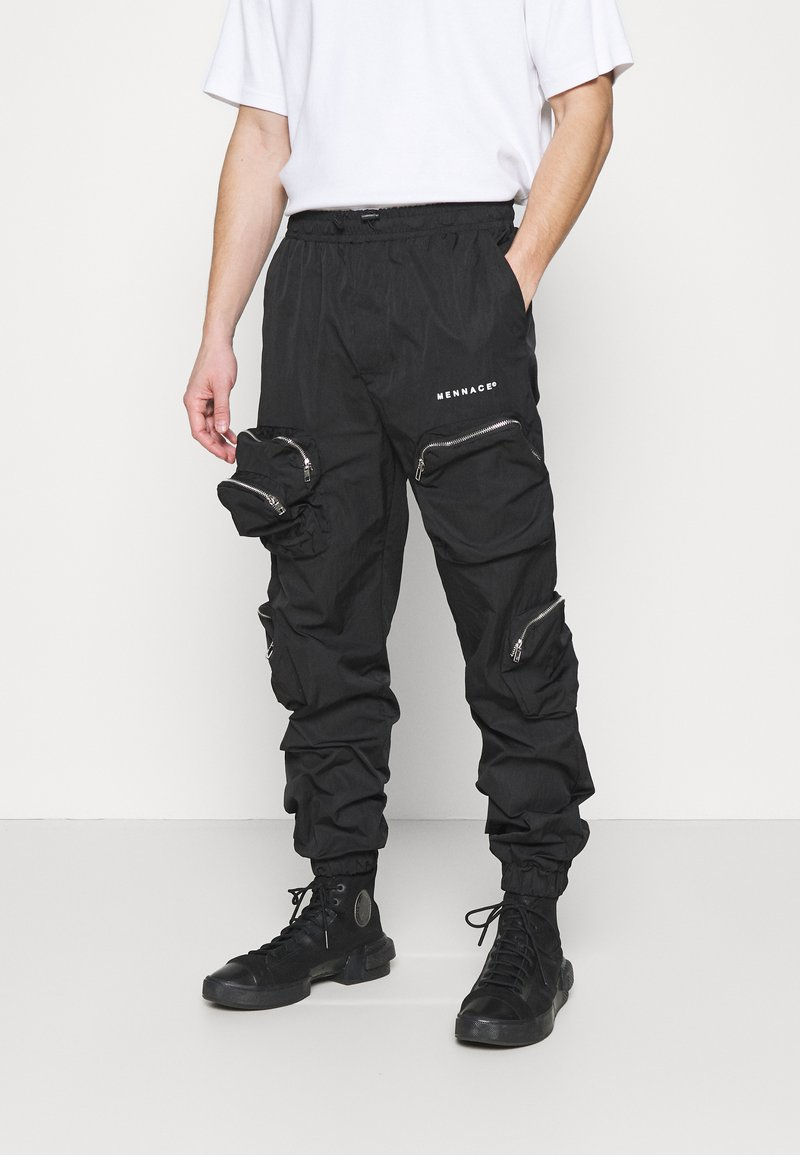 Mennace - SHADOW TRACKSUIT TROUSER - Tracksuit bottoms - black