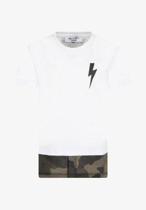 NEIL BARRETT  CON FULMINE ANNI - T-shirt print - bianco