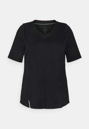 V-NECK - Basic T-shirt - deep black