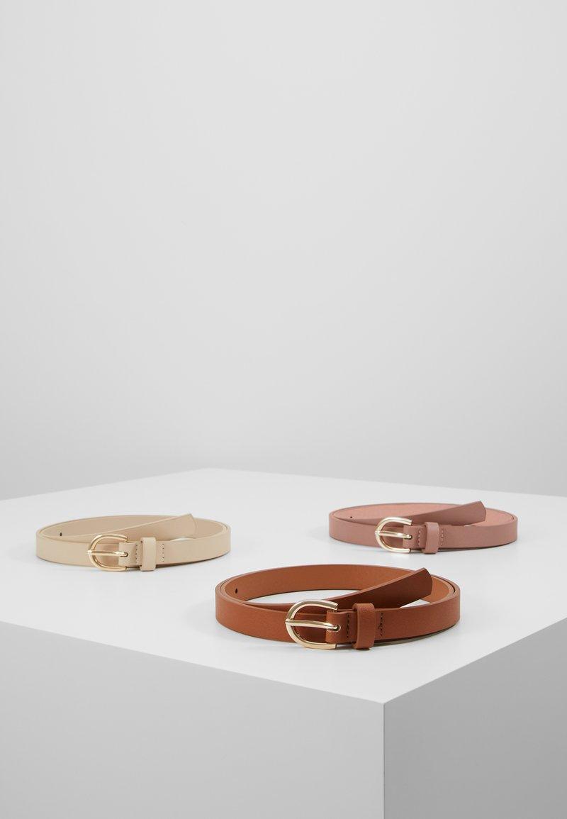 Anna Field - 3 PACK - Waist belt - cognac/rose/beige