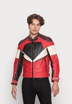 L TEAM - Kožená bunda - red
