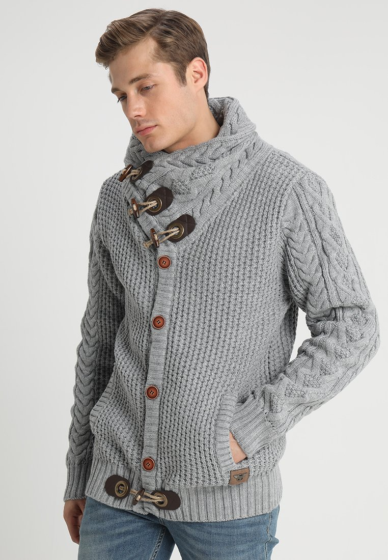 INDICODE JEANS - STONE - Jumper - light grey mix