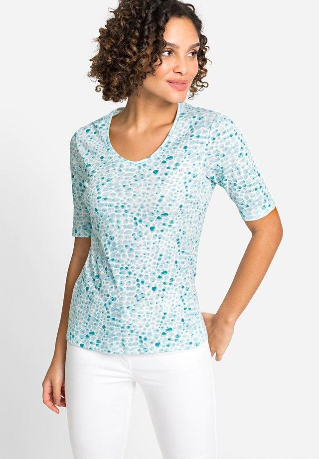 MIT KIESELSTEIN - Print T-shirt - blue
