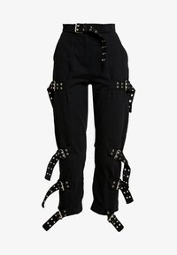 The Ragged Priest - DRILL STRAIGHT LEG TROUSER WITH BUCKLE & EYELET DETAIL - Bukse - black - 5