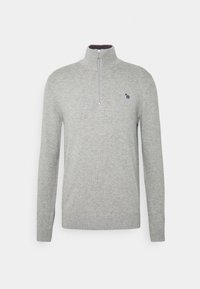 PS Paul Smith - MENS ZIP NECK ZEBRA - Jumper - grey - 4