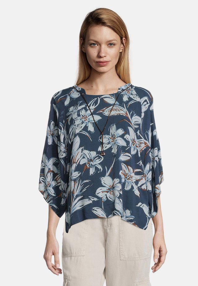 MIT MUSTER - Blouse - dark blue/light blue