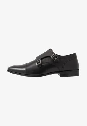 BRIGHT MONK - Smart slip-ons - black