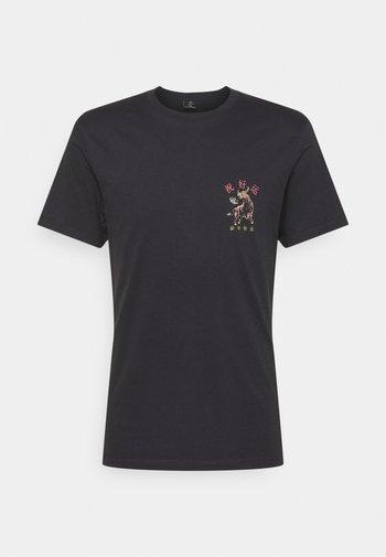 T-shirt med print - ink navy