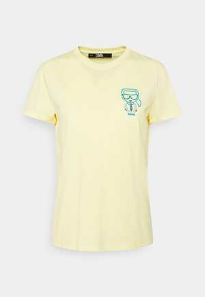IKONIK OUTLINE TEE - Print T-shirt - yellow