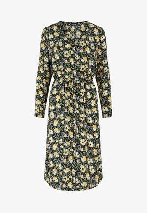 Day dress - black - gelb