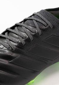 adidas Performance - COPA 20.1 FOOTBALL FIRM GROUND - Fotbollsskor fasta dobbar - core black/signal green - 5