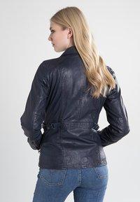 7eleven - SISSY - Leather jacket - navy - 1