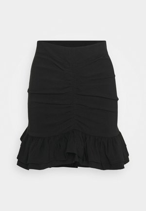 BENGALINE RUCH - Pencil skirt - black