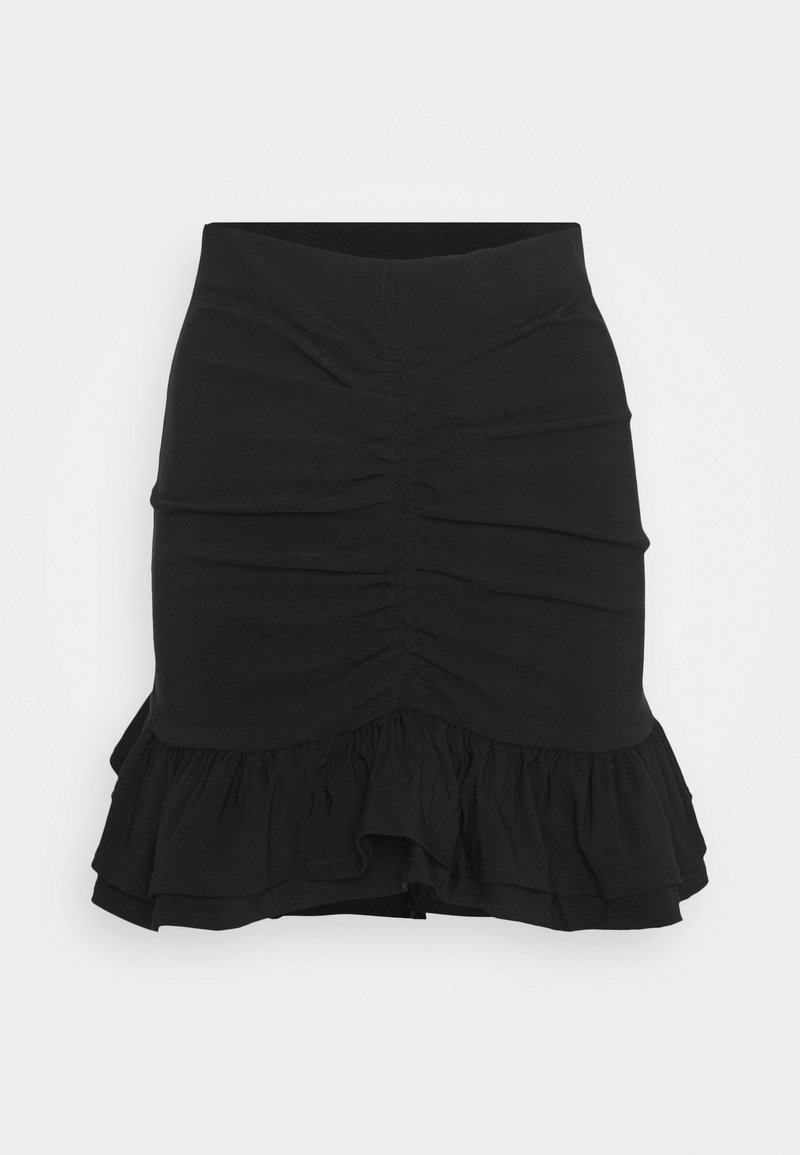 Topshop - BENGALINE RUCH - Pencil skirt - black