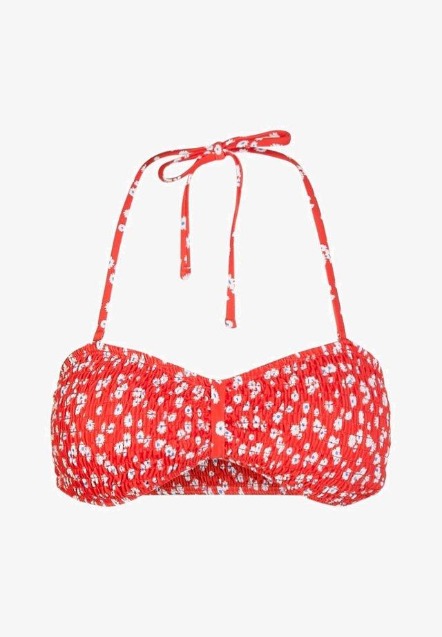 BANDEAU - Bikini top - high risk red