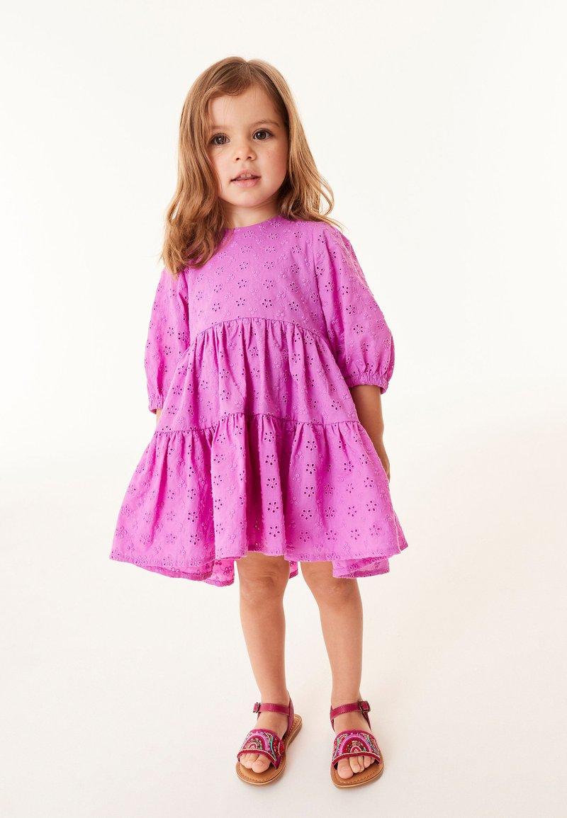 Next - BRODERIE - Day dress - purple