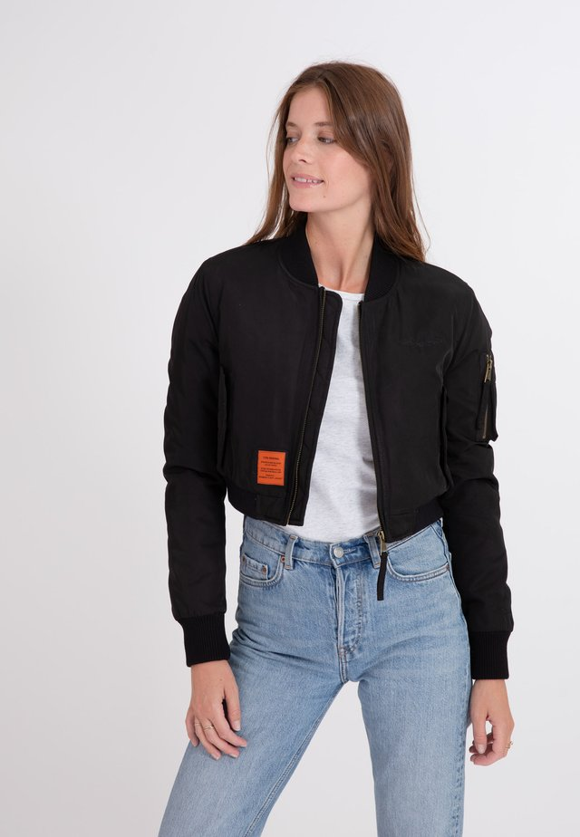 SLASH - Blouson Bomber - black