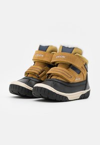 Geox - OMAR BOY WPF - Winter boots - yellow/blue - 1