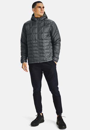 INSULATED HOODED - Winterjas - pitch gray