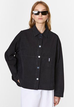 BIMBA Y LOLA OVERSIZE MIDNIGHT BLUE SHIRT - Button-down blouse - black