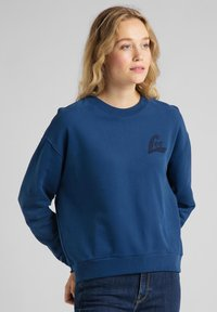 Lee - CREW - Sweatshirt - washed blue - 0