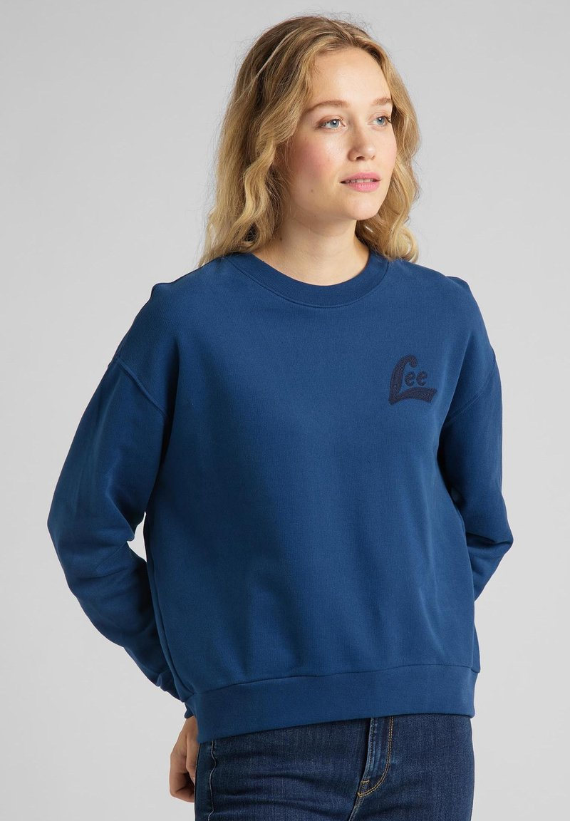 Lee - CREW - Sweatshirt - washed blue