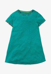 Boden - MIT REGENBOGENBORTEN - Jersey dress - smaragdgrün - 0